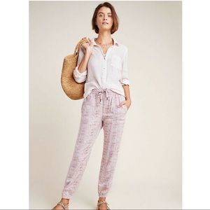 NWT ANTHROPOLOGIE Reptile Print Jogger pink large